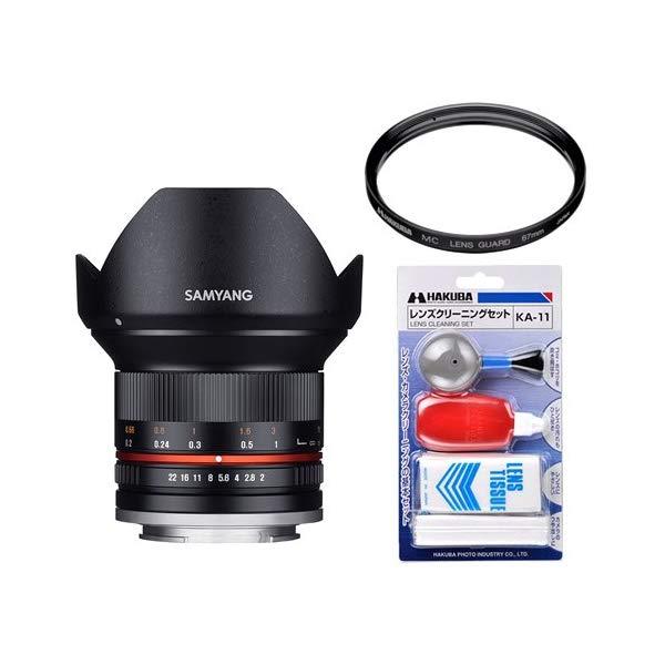 [レンズフィルター&クリーニングセット付き! ]交換レンズ サムヤン 12mm F2.0 マイクロ4/3 BK用
