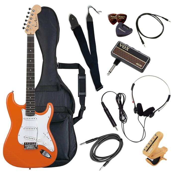 (メーカー直送)(代引不可) ST-180/OR オレンジ PhotoGenic エレキギター (ホームショッピングオリジナル ヘッドフォンアンプ ギターセット) (ラッピング不可)