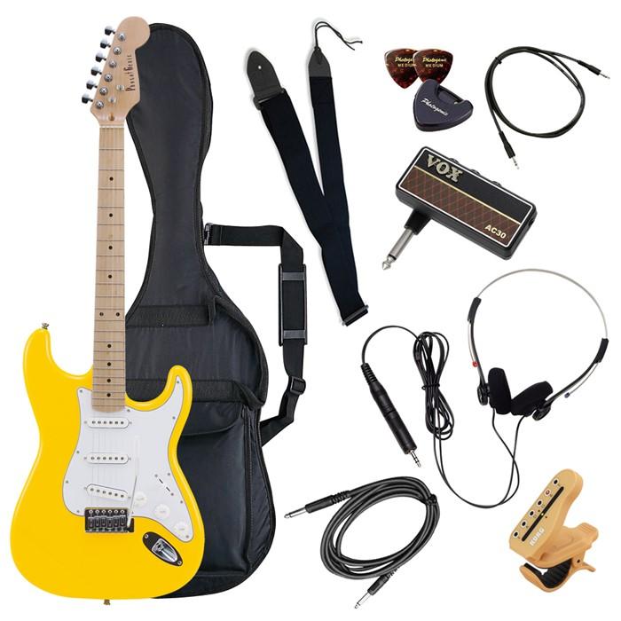 (メーカー直送)(代引不可) ST-180M/YW イエロー PhotoGenic エレキギター (ホームショッピングオリジナル ヘッドフォンアンプ ギターセット) (ラッピング不可)