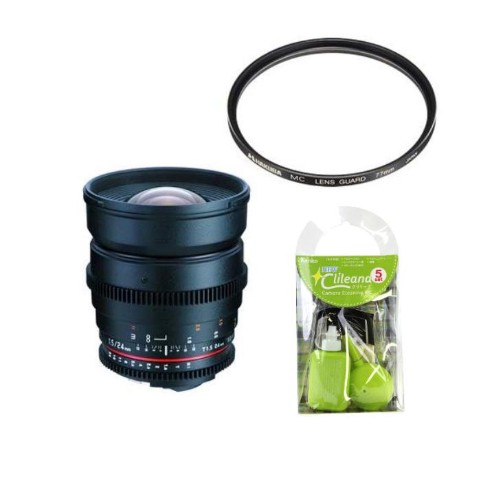 [レンズフィルター&クリーニングセット付き! ]交換レンズ サムヤン VDSLR 24mm T1.5 ソニーアルフア用