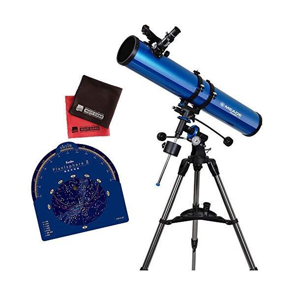 【星座早見盤&マイクロファイバークロス付き】MEADE 天体望遠鏡 EQM-114