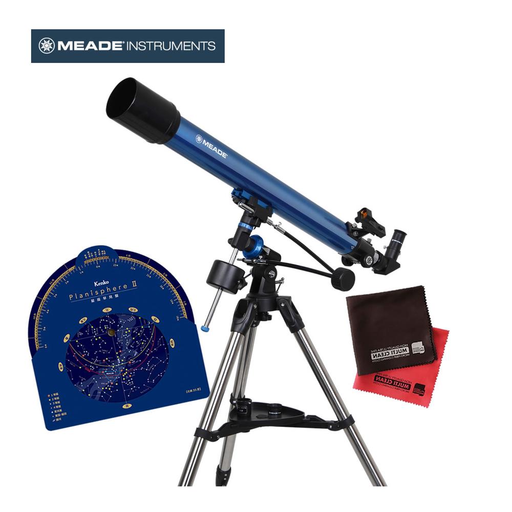 【星座早見盤&マイクロファイバークロス付き】MEADE 天体望遠鏡 EQM-70