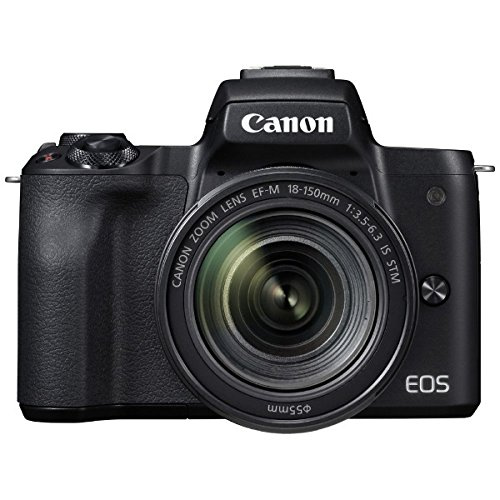 キヤノン EOS Kiss M ブラック EF-M18-150 IS STM レンズキット (2682C005) ミラーレス一眼カメラ (Canon)