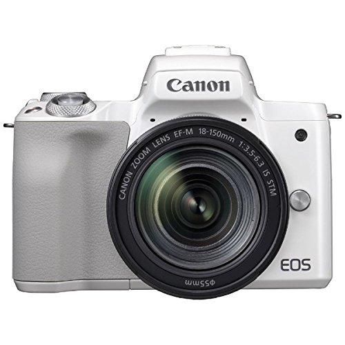 キヤノン EOS Kiss M ホワイト EF-M18-150 IS STM レンズキット (2683C005) ミラーレス一眼カメラ (Canon)
