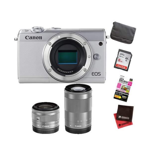 【お買い得セット!】キヤノン EOS M100 ダブルズームキット ミラーレスカメラ [カラー選択式][Canon]