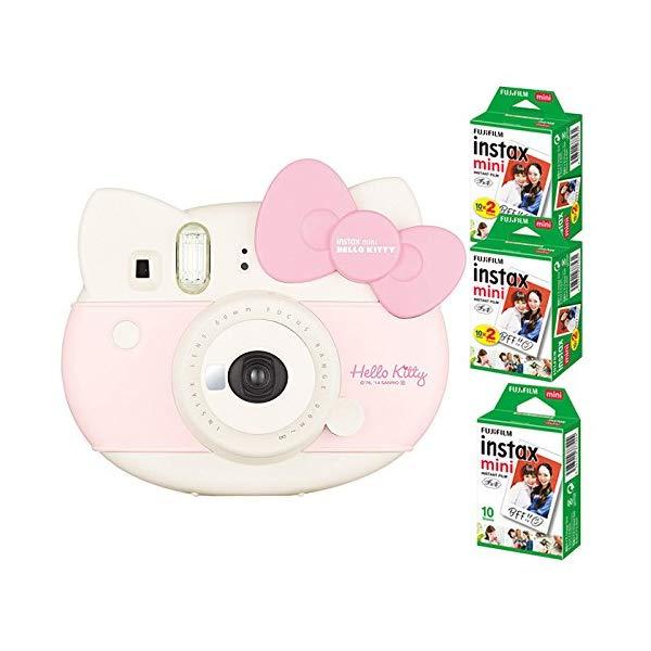 【★チェキフィルム50枚セット】フジフイルム インスタントカメラ チェキ instax mini HELLO KITTY (ハローキティ)