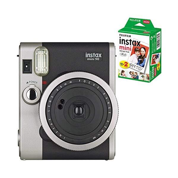 【送料無料】【★チェキフィルム20枚セット】富士フィルム インスタントカメラ チェキ instax mini 90 NC(ネオクラシック) BK(ブラック)