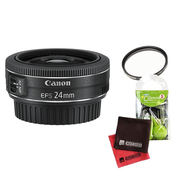 【4点セット】キヤノン EF-S24mm F2.8 STM 薄型パンケーキレンズ EF-S2428STM(9522B001)(Canon)