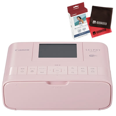 【フォト用紙&クロス付】キヤノン SELPHY CP1300(PK) ピンク コンパクトフォトプリンター [セルフィー][Canon]