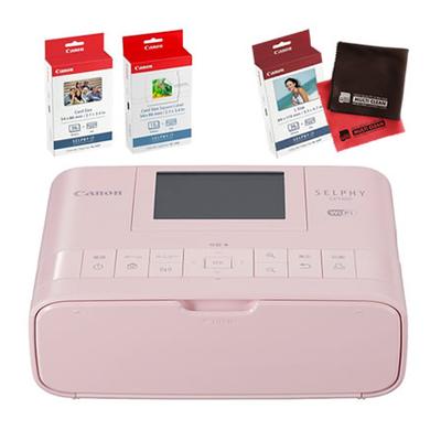 写真 プリント キヤノン コンパクトフォトプリンターSELPHY CP1300CARDPRINTKIT(PK) ピンク カードプリントキット [Canon]