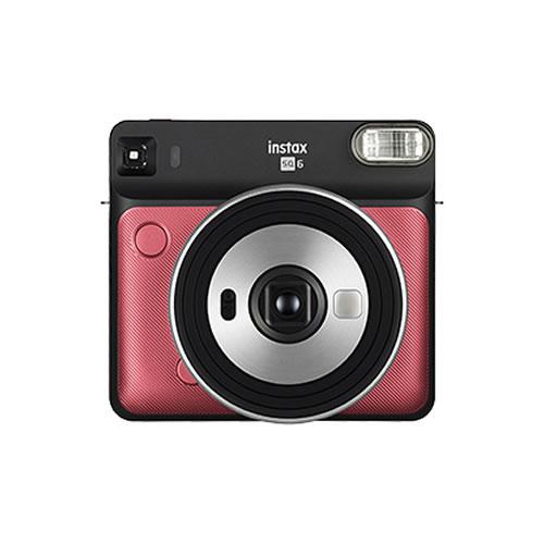 フジフイルム インスタントカメラ チェキスクエア instax SQUARE SQ6 ルビーレッド (FUJIFILM)(SQ-6/ましかくチェキ/真四角チェキ)