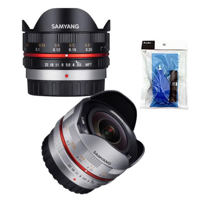 【★クリーニングキット付き!】サムヤン(Samyang) 単焦点レンズ 7.5mm F3.5 UMC Fisheye マイクロフォーサーズ用【カラー選択式】【マニュアルレンズ】
