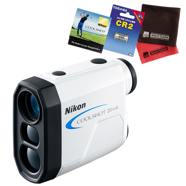 (4月19日発売)(電池・ティー・クロス付)ニコン レーザー距離計 COOLSHOT20GII 直線距離専用モデル ゴルフ用距離測定器 (Nikon)