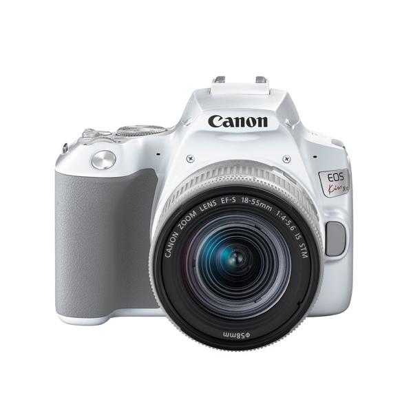 キヤノン デジタル一眼レフカメラ EOS Kiss X10 ホワイト レンズキット EOS KISS X10WH-1855IS STM LK (3456C001)(キャノン/Canon)