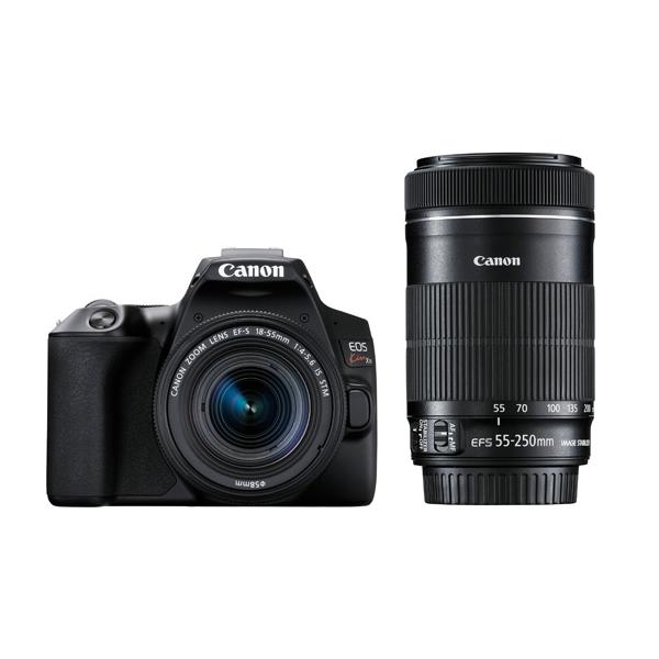キヤノン デジタル一眼レフカメラ EOS Kiss X10 ブラック ダブルズームキット EOS KISS X10BK-WKIT (3452C003)(キャノン/Canon)