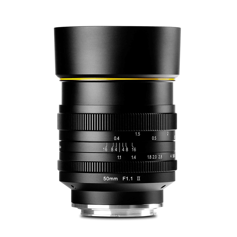 カムラン 単焦点レンズ 50mmF1.1 II フジFX用 KAM0019 交換レンズ マニュアルフォーカス (KAMLAN)