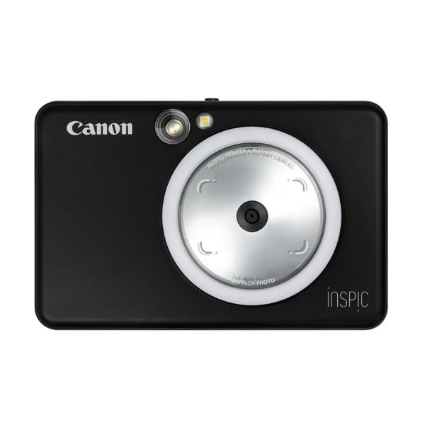 キヤノン インスタントカメラプリンター iNSPiC ZV-123-MBK マットブラック (3879C008)(キャノン/Canon/インスピック)