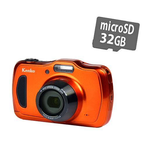 ケンコー DSC200WP 防水デジタルカメラ 2016万画素 防塵 耐衝撃 コンパクト 防水デジカメ 防水カメラ