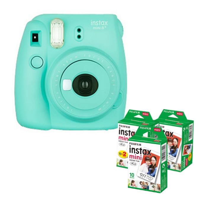 (フィルム50枚付) フジフイルム インスタントカメラ チェキ インスタックスミニ instax mini 8+ ミント (FUJIFILM)(ラッピング不可)