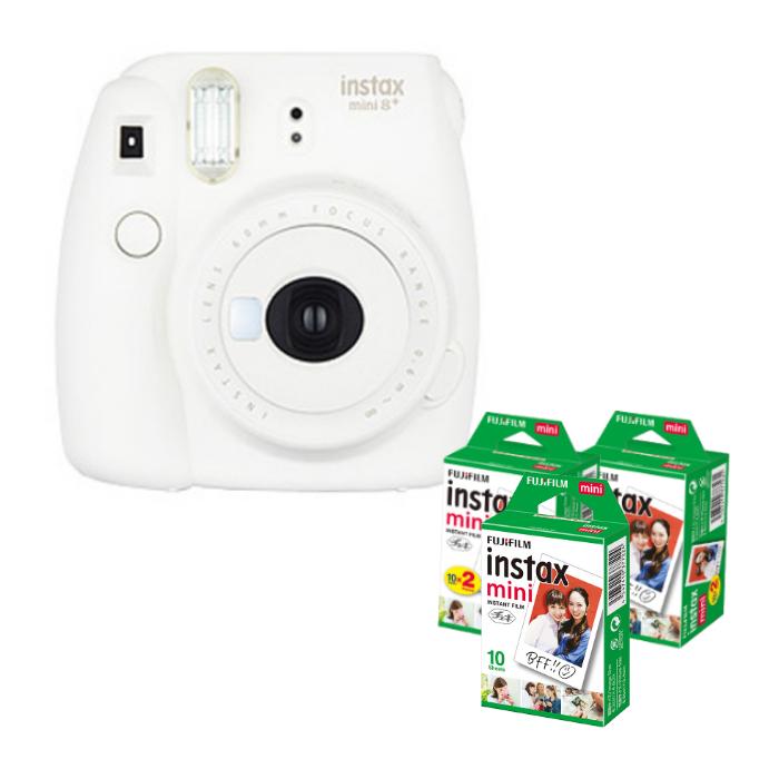 (フィルム50枚付) フジフイルム インスタントカメラ チェキ インスタックスミニ instax mini 8+ バニラ (FUJIFILM)(ラッピング不可)