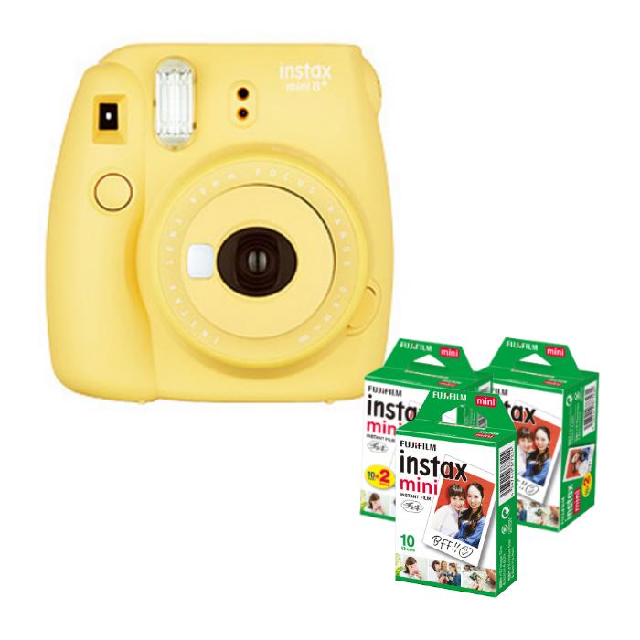 (フィルム50枚付) フジフイルム インスタントカメラ チェキ インスタックスミニ instax mini 8+ ハニー (FUJIFILM)(ラッピング不可)
