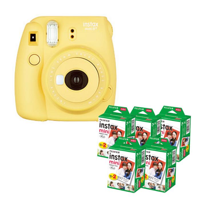 (フィルム100枚付) フジフイルム インスタントカメラ インスタックスミニ チェキ instax mini 8+ ハニー (FUJIFILM)(ラッピング不可)