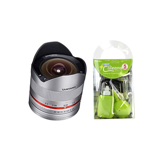 [クリーニングセット付き!]交換レンズ サムヤン 8mm F2.8 II キャノンM用 SV