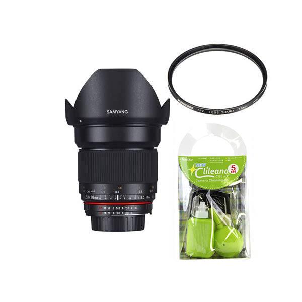 [レンズフィルター&クリーニングセット付き! ]交換レンズ サムヤン 16mm F2.0 ED AS UMC CS キャノンM用