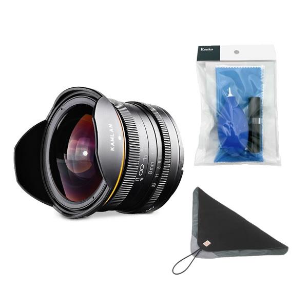 カムラン レンズ KAMLAN 超広角単焦点レンズ 8mm F3.0 キヤノンMマウント 品番:KAM0004 (交換レンズ)