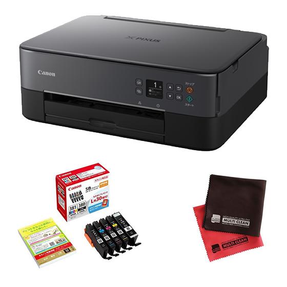 (インク&クロス付き)キヤノン インクジェットプリンター TS5330 ブラック PIXUSTS5330BK (3773C001) インクジェット複合機 (Canon)(ラッピング不可)