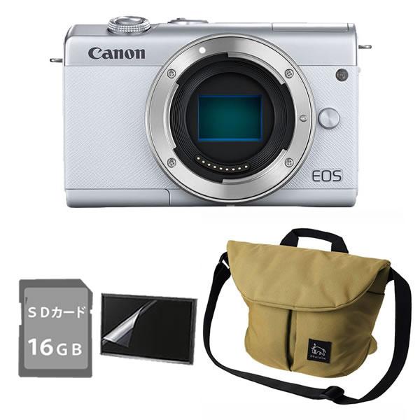 デジタル一眼 キャノン ミラーレスカメラ EOS M200 (白) ボディ 3700C001