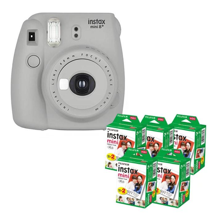 (フィルム100枚付き)フジフイルム インスタントカメラ チェキ instax mini 8+ セサミ インスタックスミニ (FUJIFILM)(ラッピング不可)