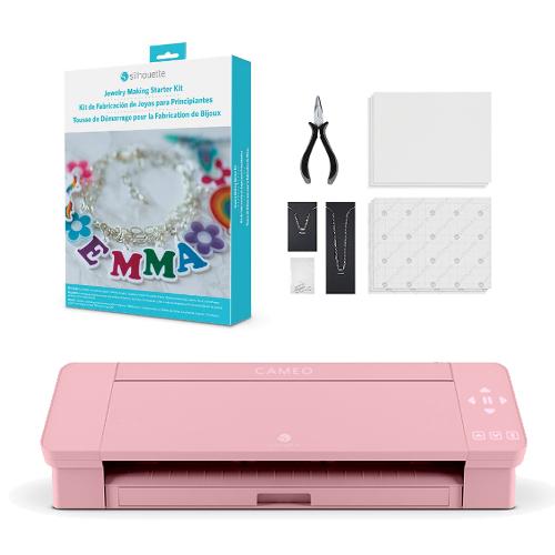 カッティングマシン プロッター シルエットカメオ4(ピンク) SILH-CAMEO-4-PNK-J スターターキット( ジュエリー KIT-JEWELRY)付き セットスターターキット