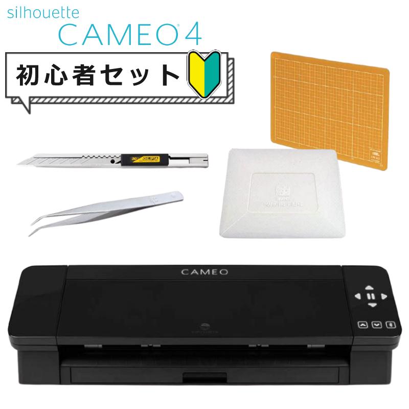 カッティングマシン プロッター シルエットカメオ4(ブラック) SILH-CAMEO-4-BLK-J 細工用カッター&ピンセット&カッティングマット&スキージ付き セット グラフテック