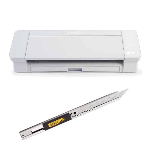 カッティングマシン プロッター シルエットカメオ4(ホワイト) SILH-CAMEO-4-WHT-J 細工用カッター付き セット グラフテック