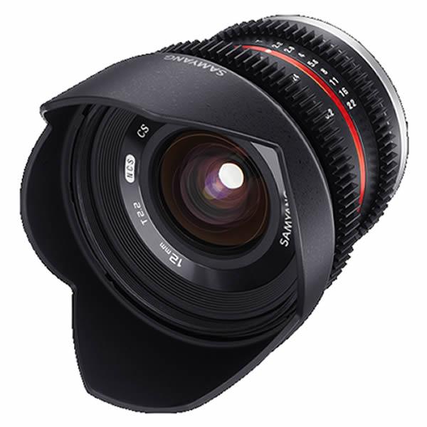 【アウトレット品】サムヤン 12mm T2.2 Cine NCS CS マイクロフォーサーズ用 広角レンズ 広角動画レンズ