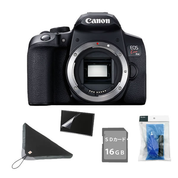 (5点セット!)キヤノン デジタル一眼レフカメラ EOS Kiss X10i ブラック ボディー (3923C001)(キャノン/Canon)