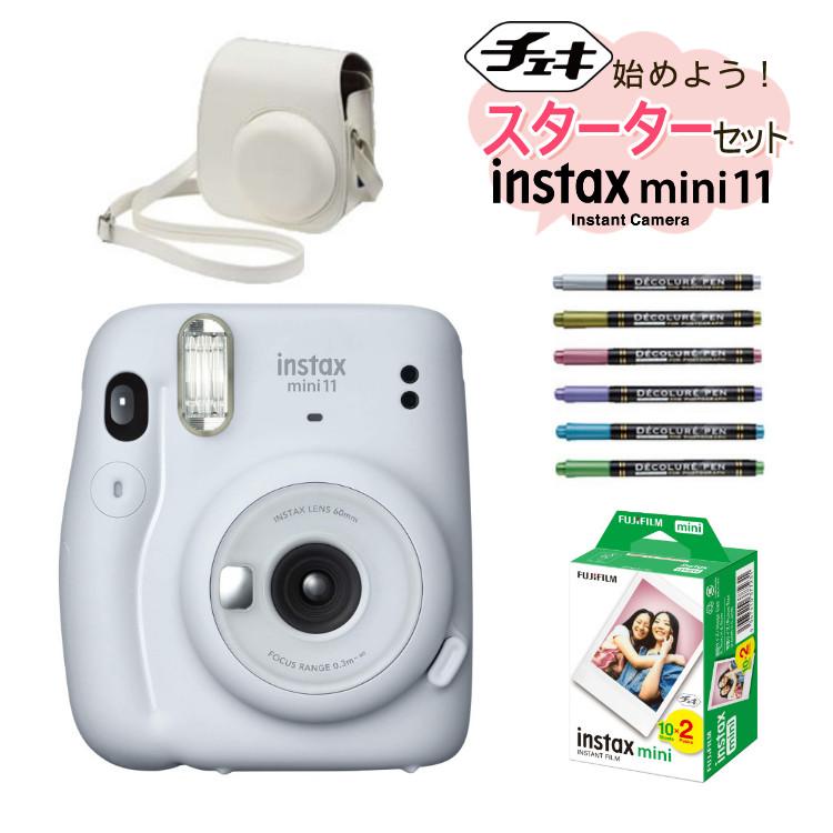 チェキ インスタントカメラ 富士フイルム instax mini 11 アイスホワイト FUJIFILM インスタックスミニ