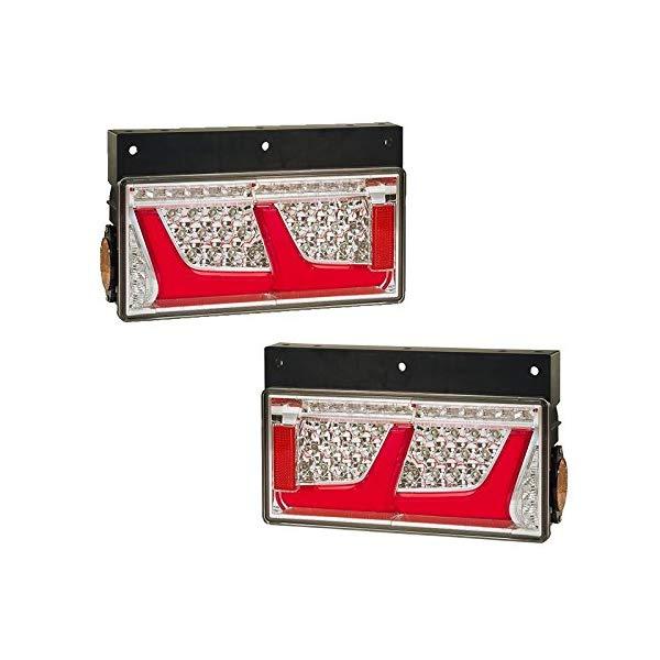 (左右セット)小糸製作所 LEDRCL-24R2S/24L2S 2連タイプ シーケンシャルターン レッドVer. トラック用オールLEDリアコンビネーションランプ (KOITO)