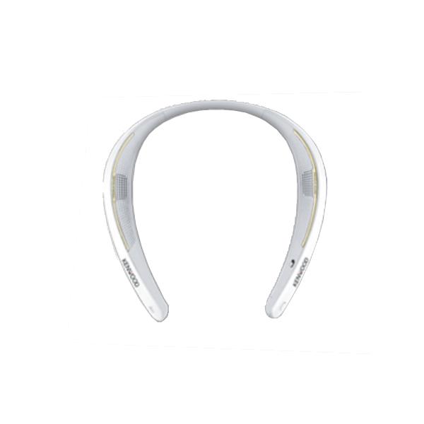 ケンウッド ウェアラブルワイヤレススピーカー ホワイト CAX-NS1BT-W (CAXNS1BTW)(ネックスピーカー/Bluetoothスピーカー)