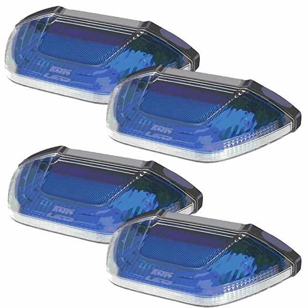 (4個セット)小糸製作所 LEDマーカー&アンダーライト SMLUL-24B ブルー 24V車専用 (KOITO)(カー用品)(ラッピング不可)