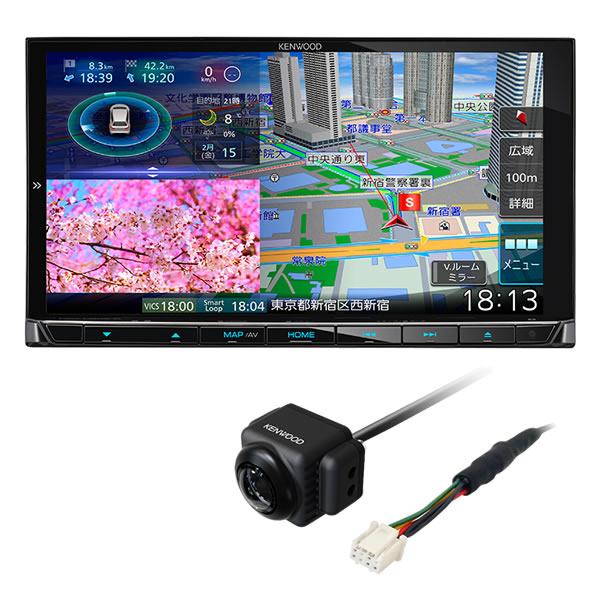 (リアビューカメラ付)ケンウッド 彩速ナビ MDV-M906HD 180mmモデル AVナビゲーションシステム カーナビ (KENWOOD) (ラッピング不可)