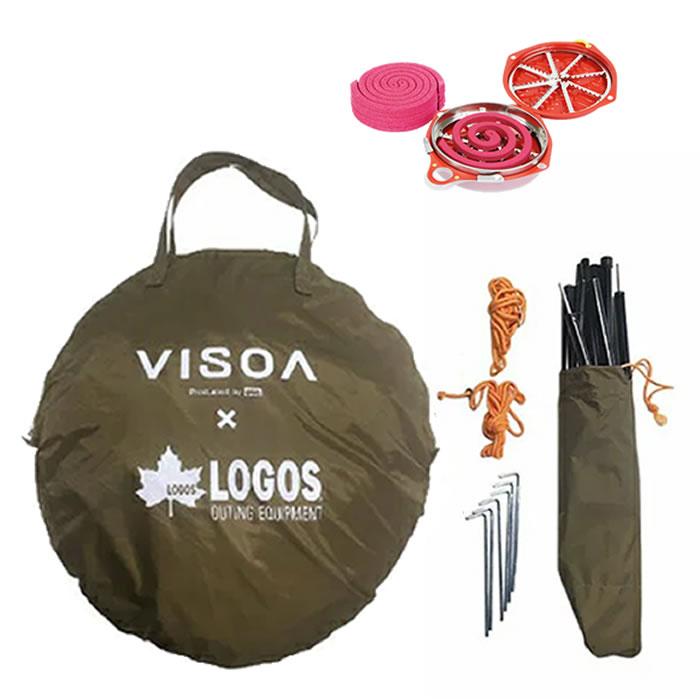 VISOA×LOGOS カージョイントタープ ヤック U-V1 日除け ロゴスコラボ品(車中泊・アウトドア・キャンプ)(ラッピング不可)