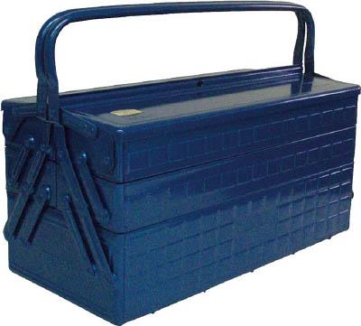 【代引不可】【メーカー直送】 トラスコ中山【工具箱・ツールバッグ】3段式工具箱 472X220X343 ブルー GT470B (1215663)【ラッピング不可】