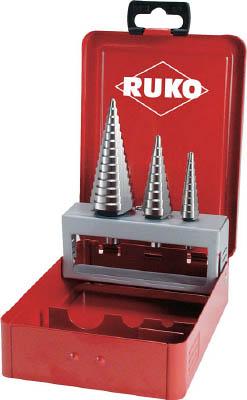 【代引不可】【メーカー直送】 RUKO社【穴あけ工具】 3枚刃ステップドリル 3本組セット 101326 (7660171)【ラッピング不可】