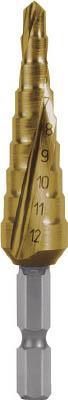 【代引不可】【メーカー直送】 RUKO社【穴あけ工具】 スパイラルステップドリル 12mm チタン 1010509TH (7659601)【ラッピング不可】