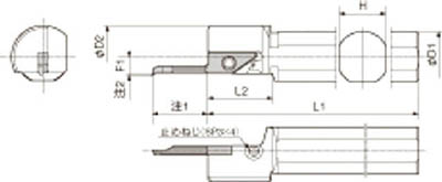 【代引不可】【メーカー直送】 京セラ【旋削・フライス加工工具】 内径加工用ホルダ S16HSVNR12N (6521746)【ラッピング不可】