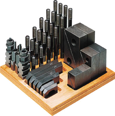 【代引不可】【メーカー直送】 スーパーツール【ツーリング・治工具】 ステップクランプキット(M16、T溝巾18) 1816CK (1762133)【ラッピング不可】