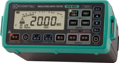 【代引不可】【メーカー直送】 共立電気計器【計測機器】 デジタル絶縁・接地抵抗計(メモリ機能付モデル) KEW6023 (4796616)【ラッピング不可】