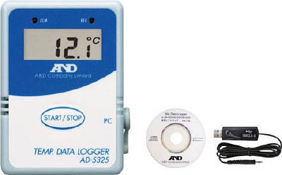 【代引不可】【メーカー直送】 エー・アンド・デイ【計測機器】 温度データーロガー 8000メモリースタート・セット AD5325SET (3306712)【ラッピング不可】